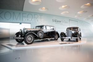 mercedes,musée,Stuttgart,usine,2013,classe s,histoire,saga,générations,galerie