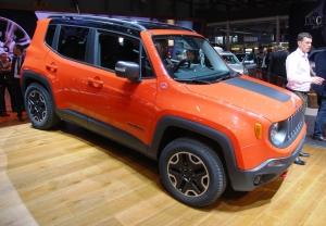 Jeep,Renegade,salon,geneve,diesel,essence,SUV,4WD,Fiat,500L,base,orange,new,4x4