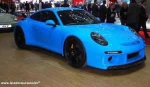 RUF,Porsche,préparateur,tuning,haut de gamme,performance,supercar,allemand,RGT,4.2,Turbo,Florio,Targa,911,RTR,800 ch,CTR3,Martini,livrée,couleurs,Le Mans,Salon,Genève,2015