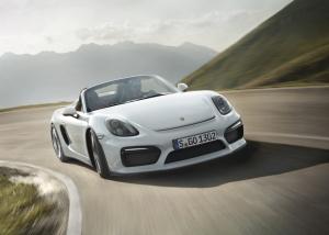 Porsche,Boxster,Spyder,nouveau,new,salon,2015,new-york,3.8,375 ch,toit,toile,léger,extrême,puriste