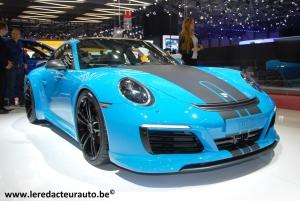 Salon,Genève,2016,Porsche,Techart,préparateur,tuning,911,carrera,turbo,moteur,carrosserie,