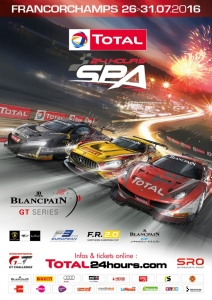 affiche,endurance,24,heures,spa,francorchamps,GT3,new,BES,blancpain,series,2016