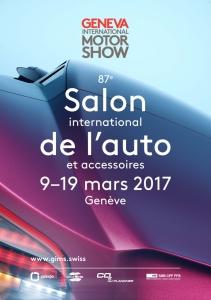 Salon,automobile,genève,international,motorshow,87,ème,édition,2017,affiche,visuel,site,internet,url,adresse