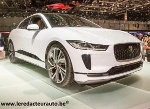 salon,Genève,GIMS,2018,jaguar,I-Pace,100%,électrique,400ch,696Nm,80.000euros,prix,futur,SUV,angleterre,UK