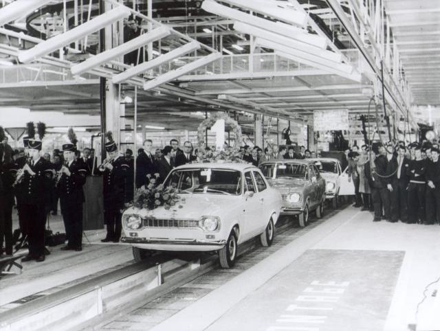 1. Ford Escort in Ford-Werk Saarlouis
